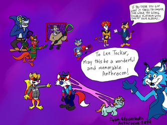 Gift Art For Lee Tockar (Anthrocon 2014 Guest Of Honor)