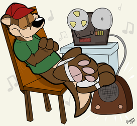 Reggie Listens to Some Music by Dingoroo