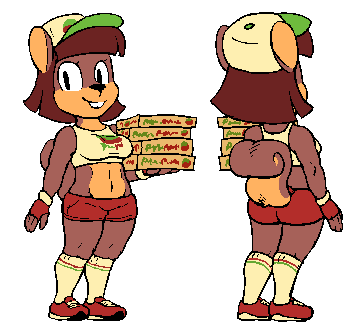 Golly the pizza squirrel girl