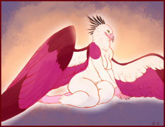Who's a Pretty Bird? (Art by Viral_Divinity)
