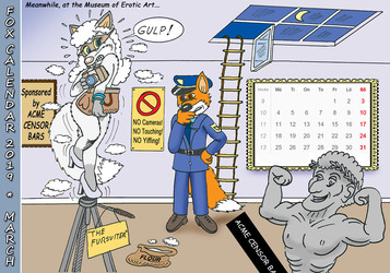 Fox Calendar 2019 - March