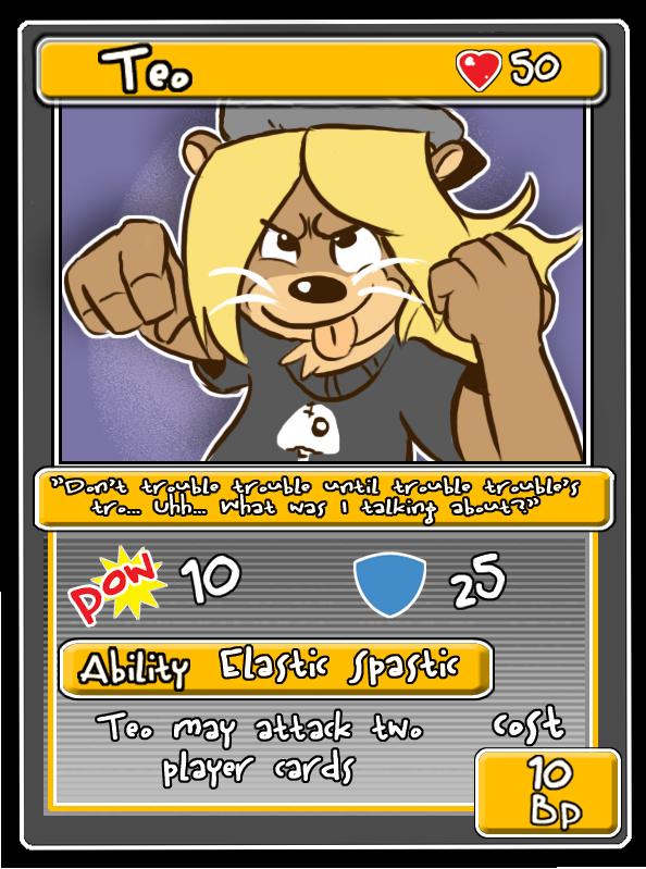 Fursona Fighter Teo's Card