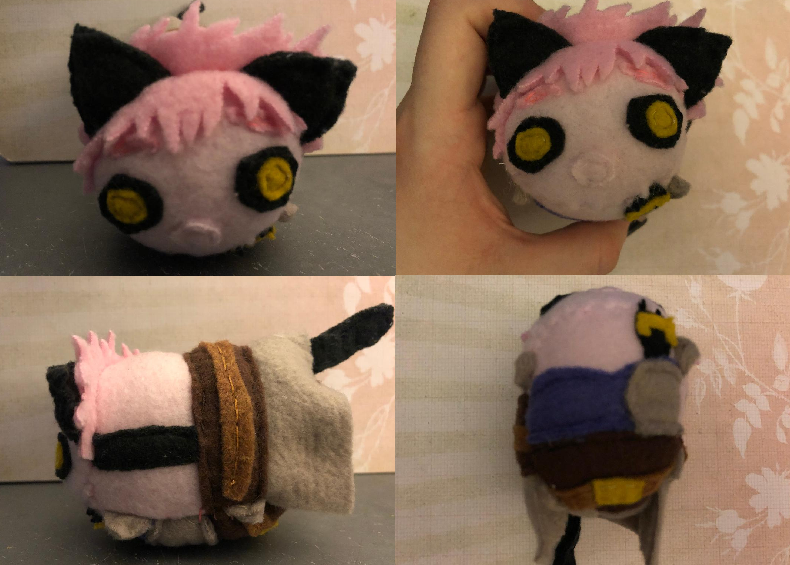 My Hero Academia Mina Ashido Hybrid Fantasy Au Stacking Plush Made for myself