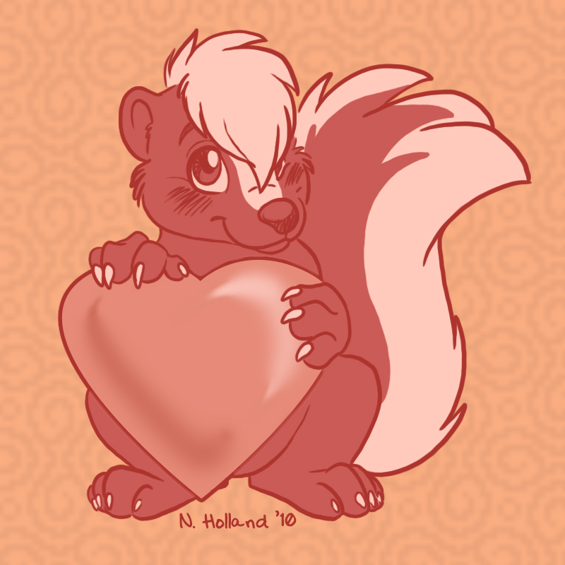 Skunks are <3 <3 <3!
