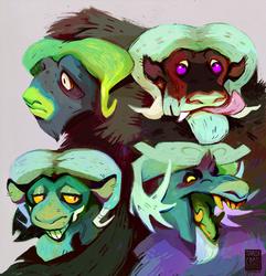 Buncha musky ox monsters