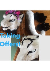 Taking Offers on Beautiful Sergal Partial! Partial for sale!