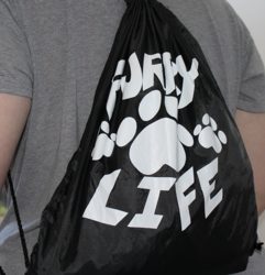 Furry Life Drawstring Backpack Part 2