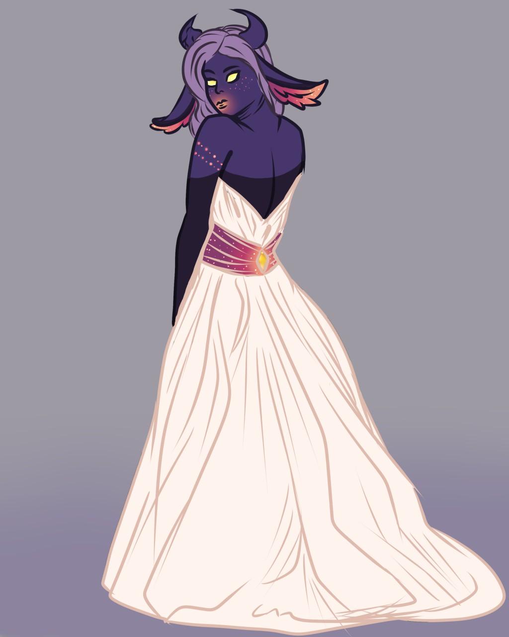 Alya, white wedding