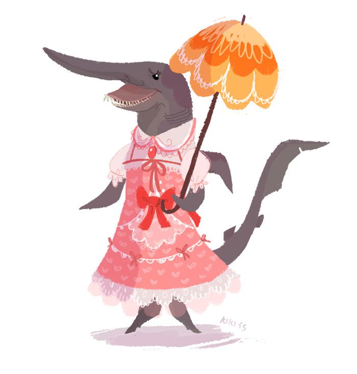 Unusual anthro: Loli shark girl