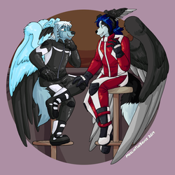 So...your place or mine?  (Merlin commission)