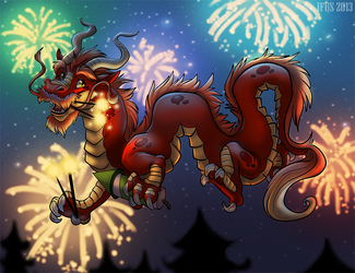 New Years Dragon (PRINT AVAILABLE VIA STORENVY)