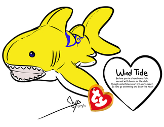 TY Collectible - Wind Tide the Lemon Shark