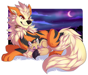 Arcanine Snuggles by Citrinelle