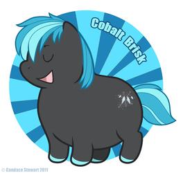 Fat Pony Badge - Cobalt Brisk