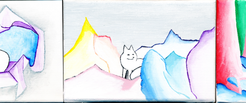 Arctic fox - paintings for NFC2015