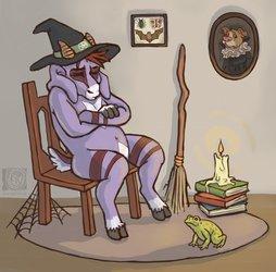 grumpy lil witch naps