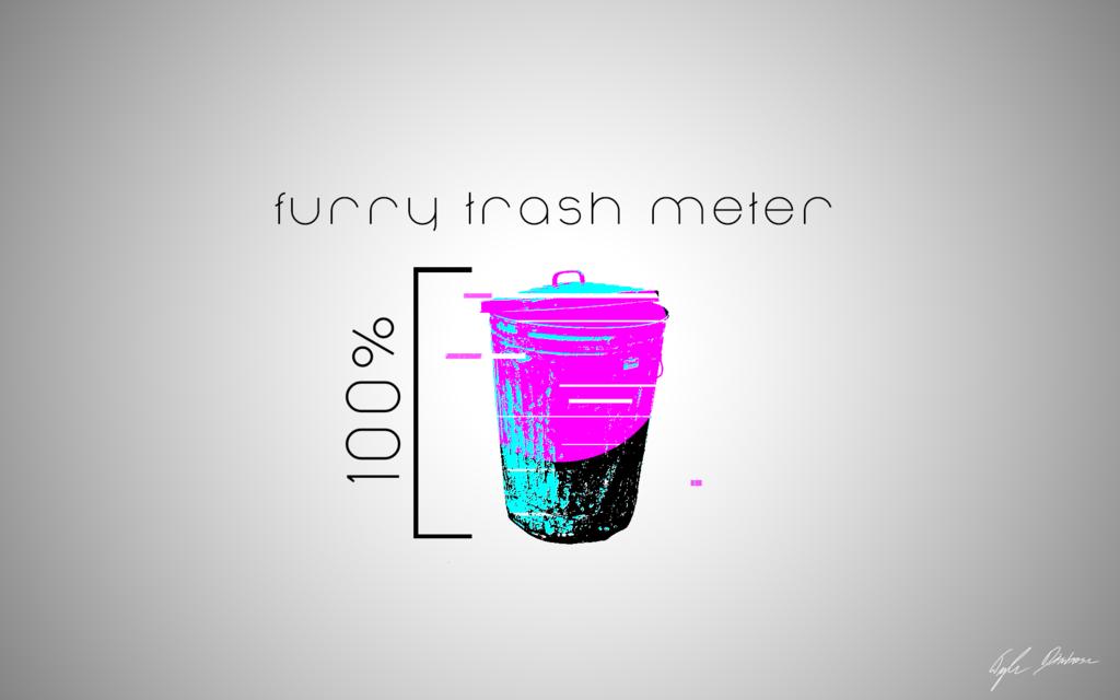 Most recent image: Furry Trash Meter Color