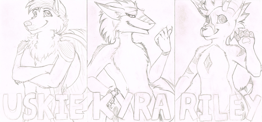 Post Convention Traditional Badges Sketches