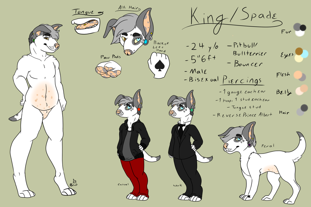 Most recent image: SFW King/Spade Ref Sheet