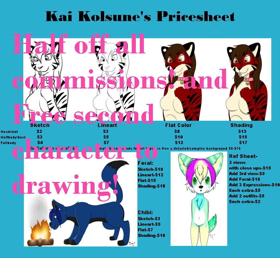 Most recent image: Half off all commissions!