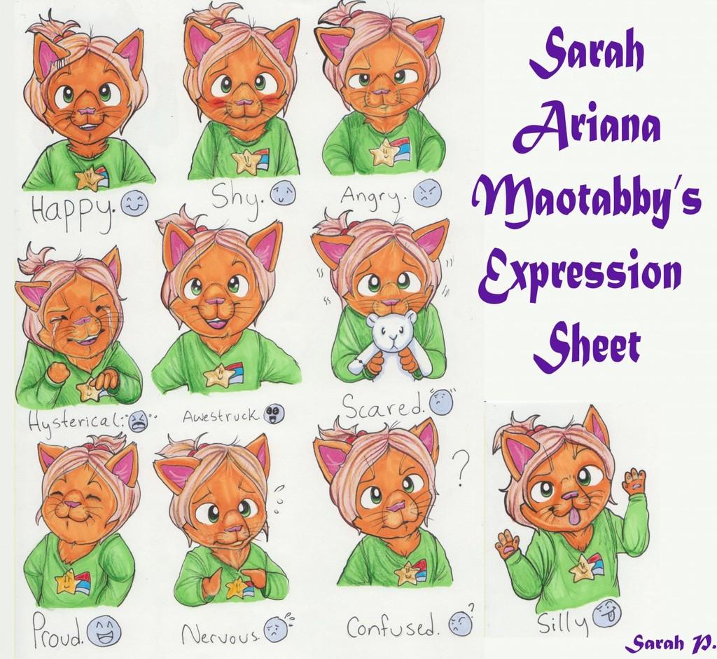 Sarah's Expression Sheet (February 2017)