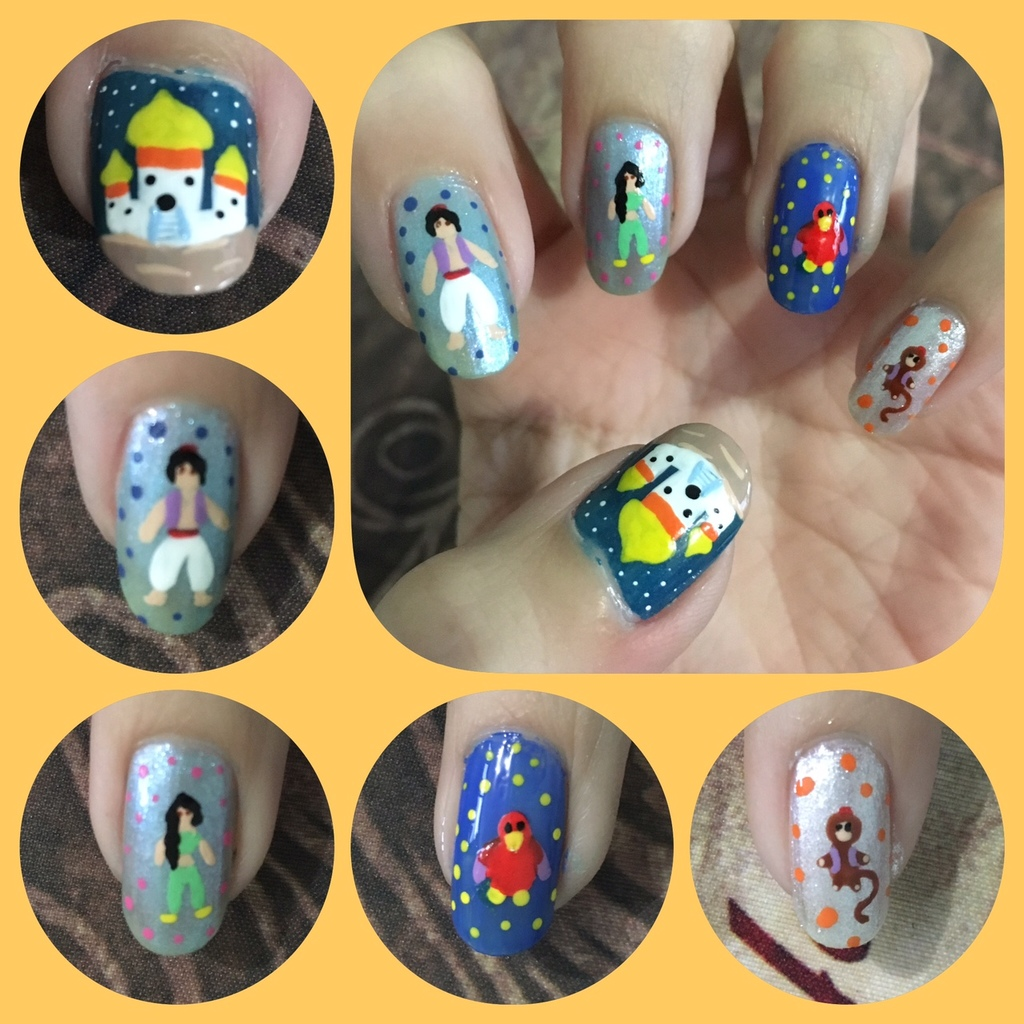 Aladdin Nail Art Left