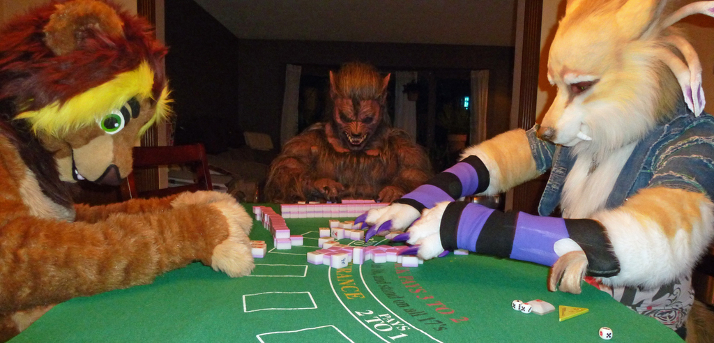 You Think Playing Cards is Hard in Fursuit?