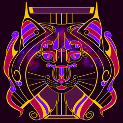 Galaxy Cats - Lyra Lynx (Warm Purple Galaxy)
