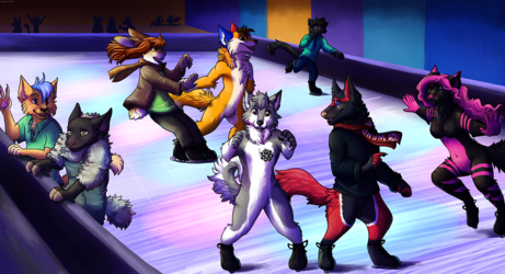 At the Ice Rink By Tonkinese Dragon