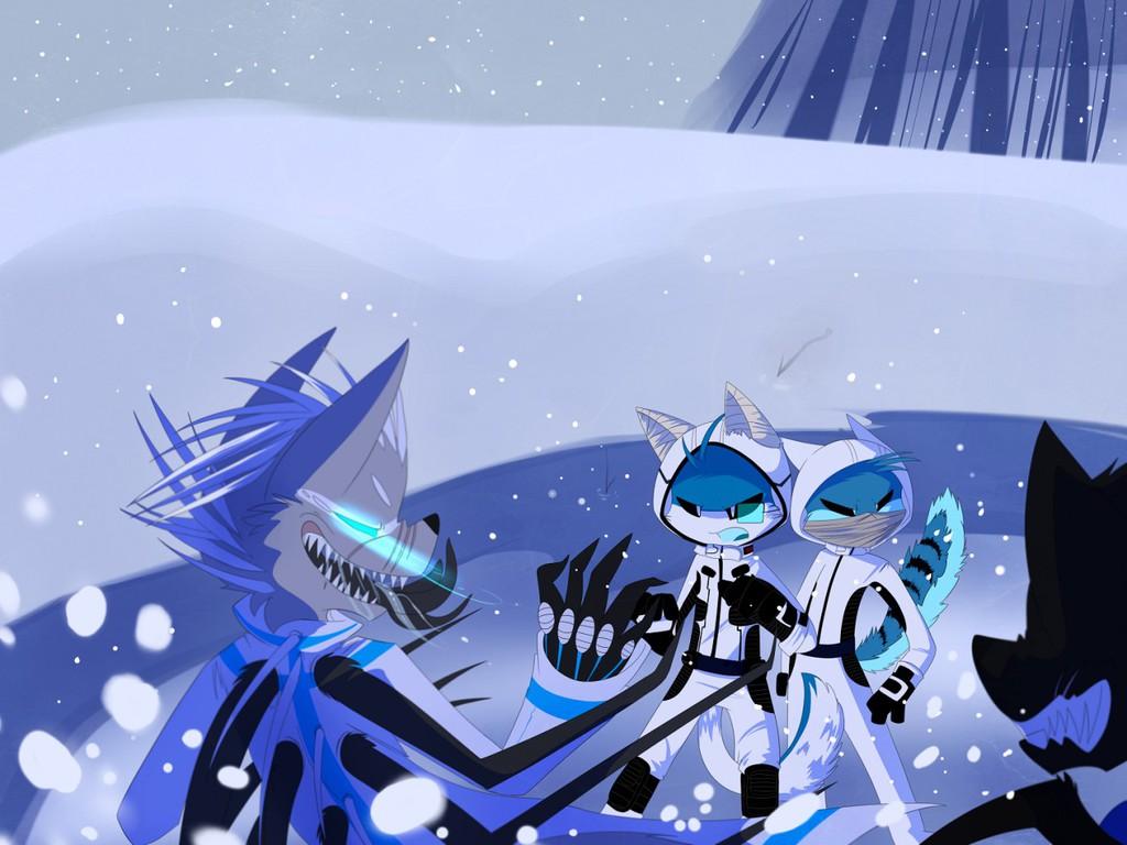 Snowy Confrontation