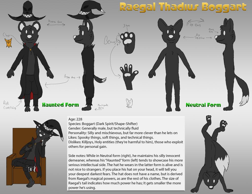 Most recent image: 2018 - Raegal Reference Sheet o' Doom