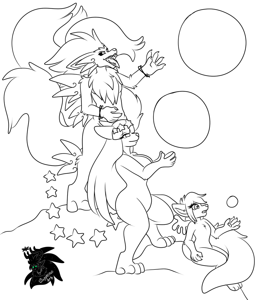 Cosmic Family Tree +Commission WIP+