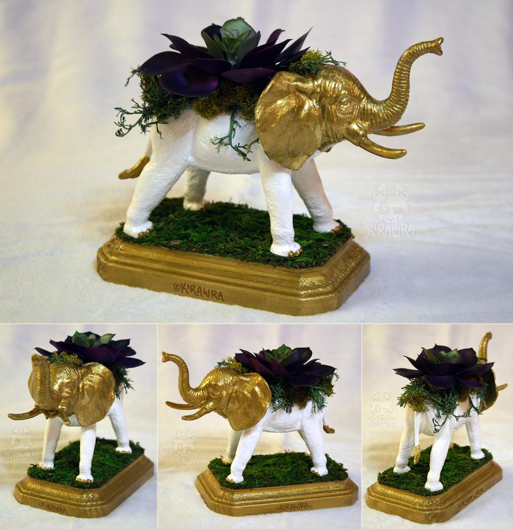 Elephant Planter Centerpiece