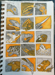 Lizard Monsters Thumbnails