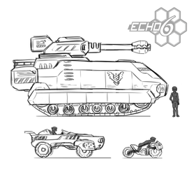 Echo 6 Vehicle sketches