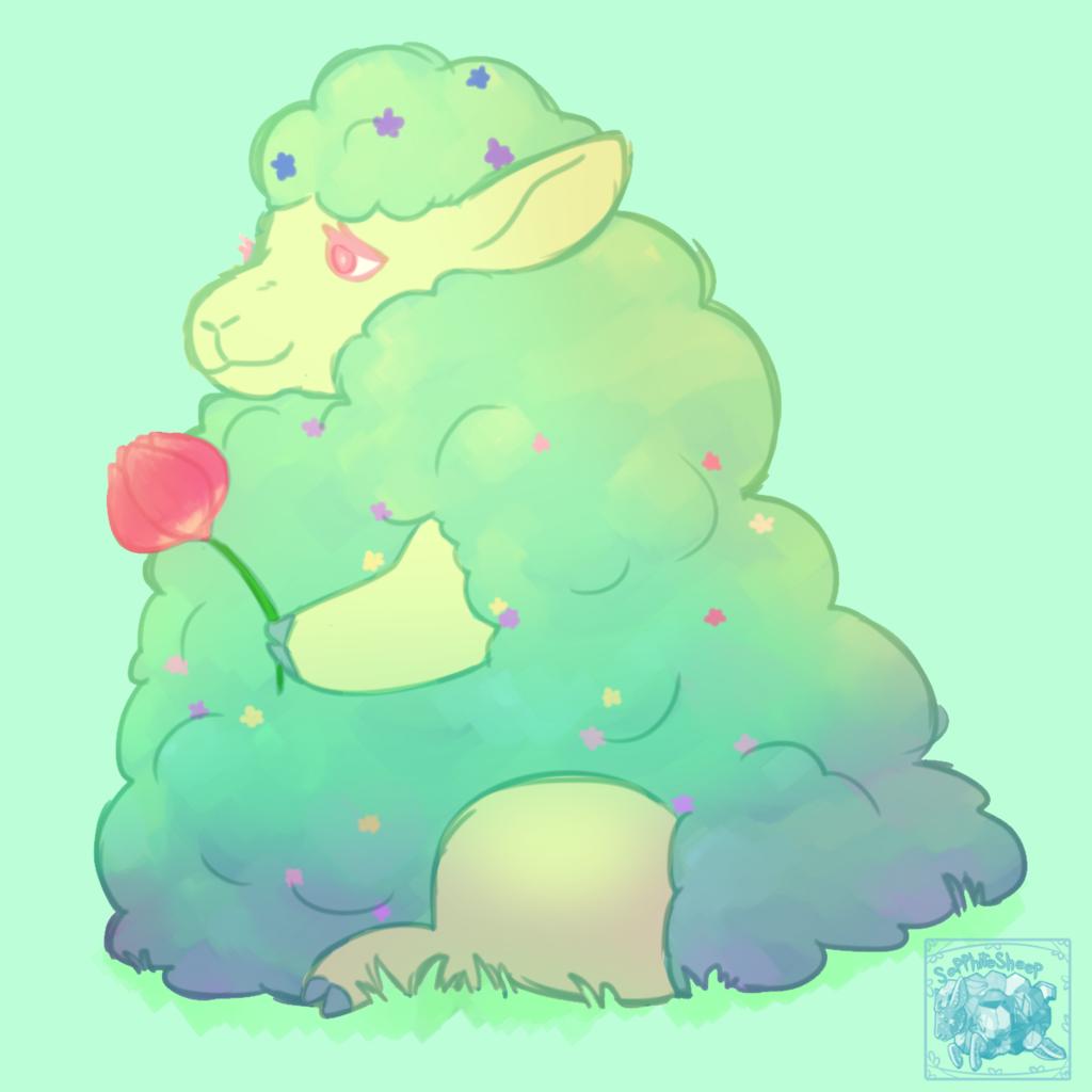 Flower Sheep doodle