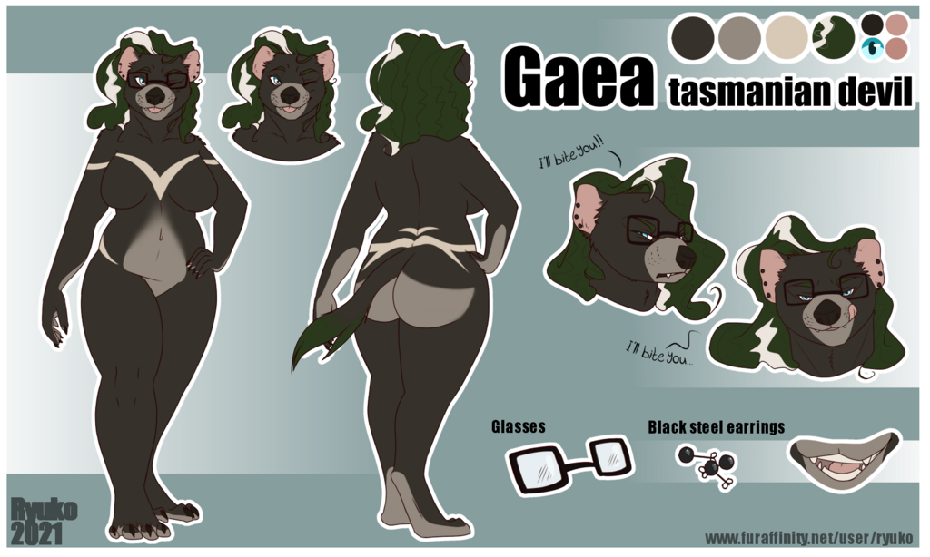 Most recent image: Gaea reference sheet (SFW) by Ryuko