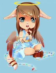 Cute little Christmas angel