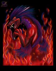 Red - Eastern Dragon - Digital Art