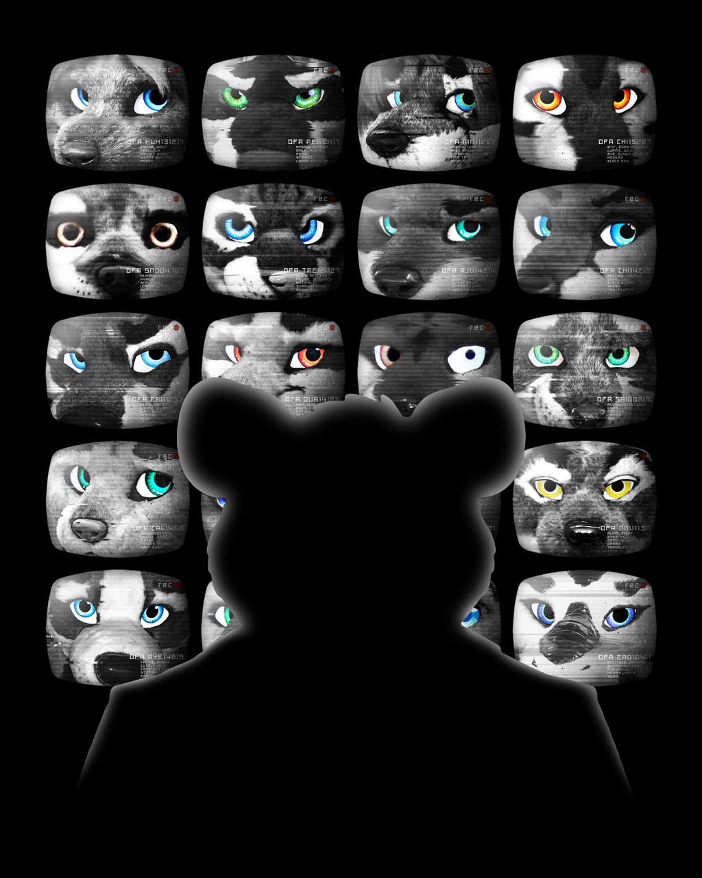 Most recent image: OneFurAll at BLFC - Smile for the Cameras T-Shirt Design