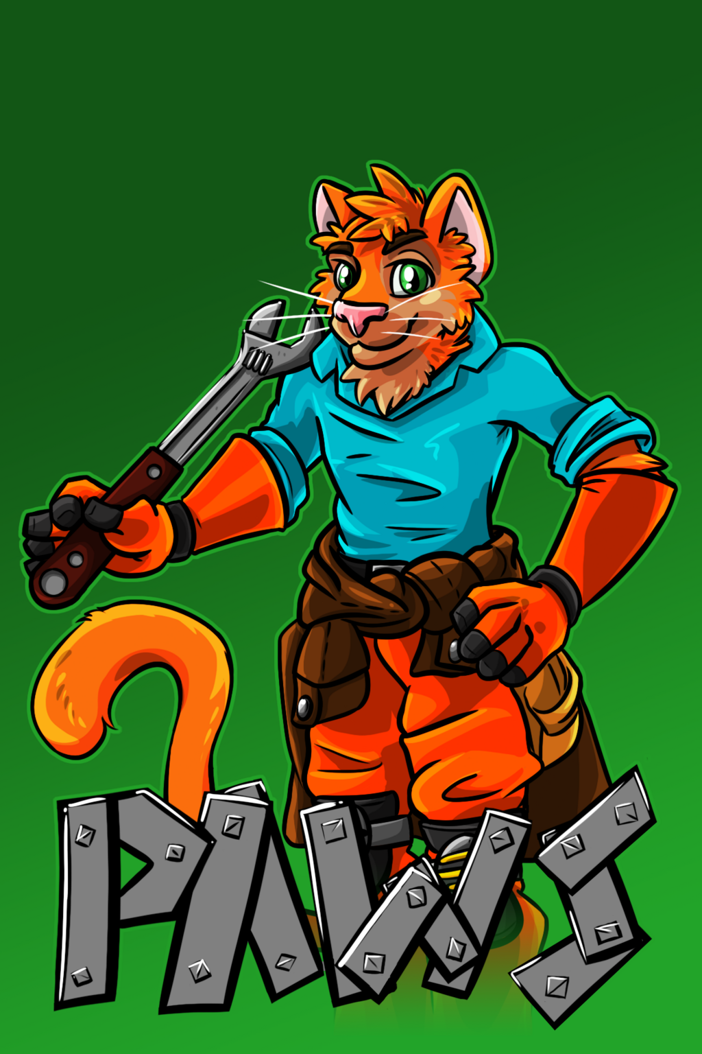 Most recent image: Paws Badge (Commission)