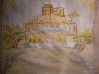 WtV: WIP: Village Eldest Palace; aquarell-colored, non-shaded