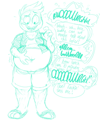 [com] back-talking belly