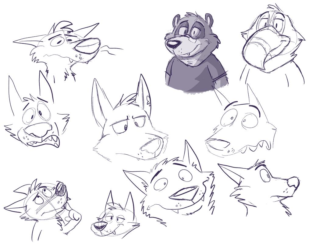 [scrap] practice faces