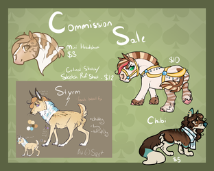 March Commission Sale- OPEN