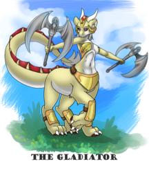 Anya the Gladiator by Vixietrix