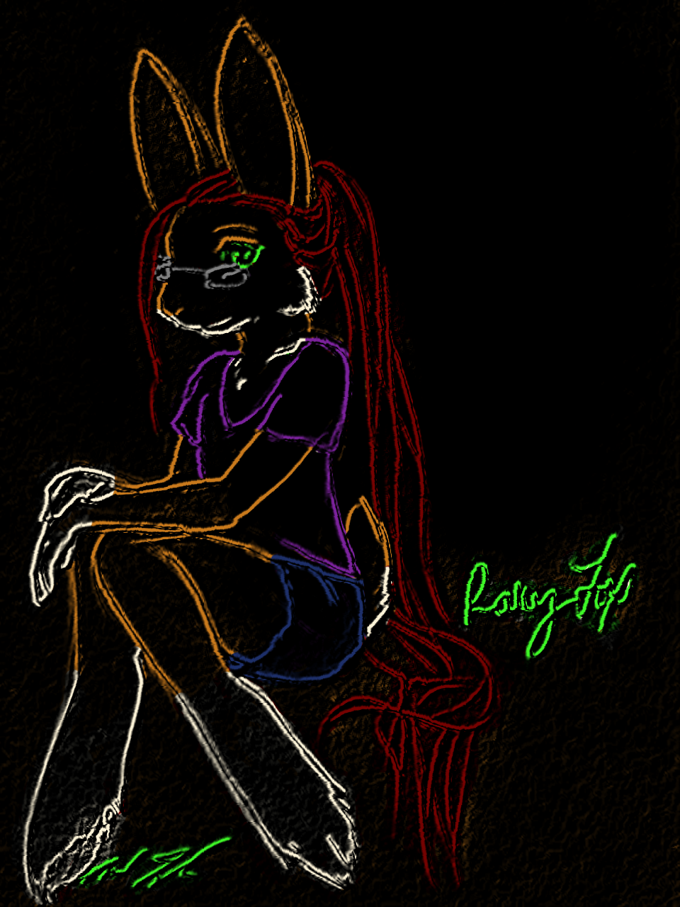 Neon Bunny