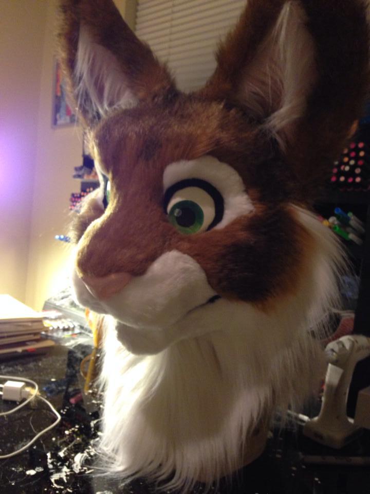 WIP - Kitty Fursuit Head SOLD