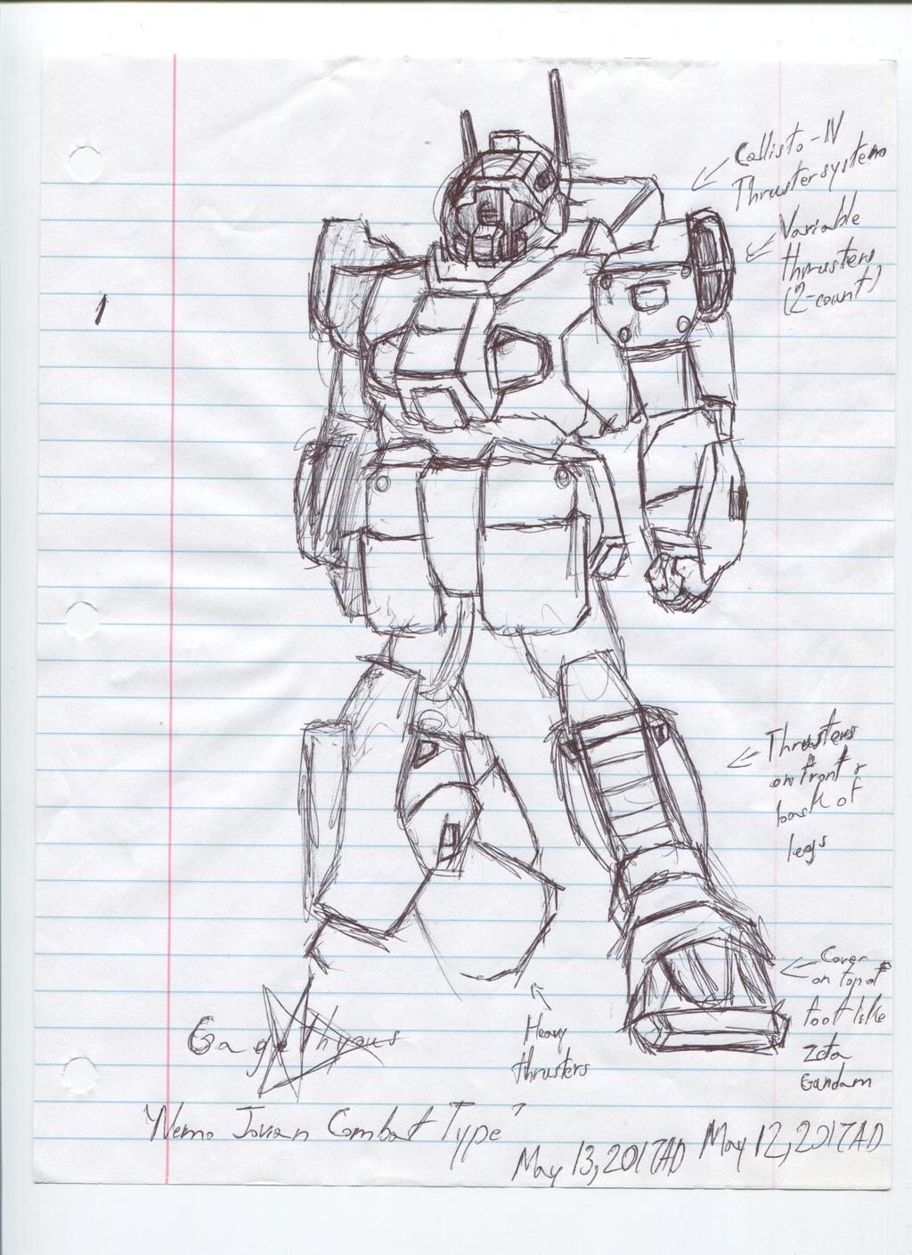 Gundam Project Thing: Nemo Jovian Combat Type Concept