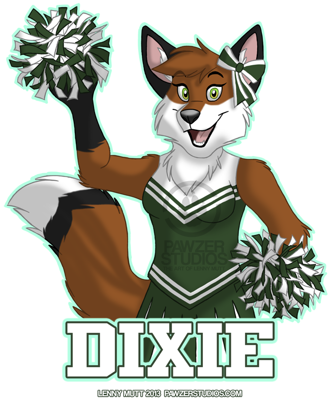 Dixie Cheerleader Badge